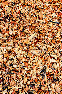 Decorative wood chippings.