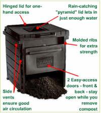 Delux Pyramid Composter - America