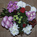 Flower vase of Chrysanthemums