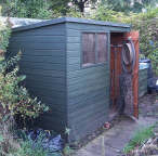 open the garden tool shed door