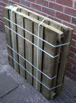 Slatted Timber Composter Kit before assembly